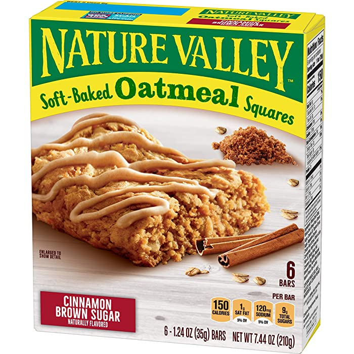 Nature Valley NAT VAL SOFT BAKED SQUARES 6 Piece Cinnamon Brown Sugar Soft-Baked Oatmeal Squares, 7.44 oz