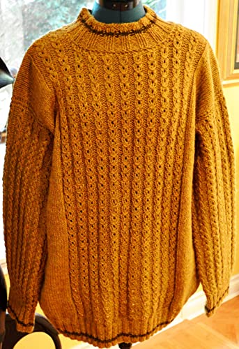 227c8942afe4 Original Design   Hand Knitted Men s Sweater – Pattern on the Front and  Sleeves
