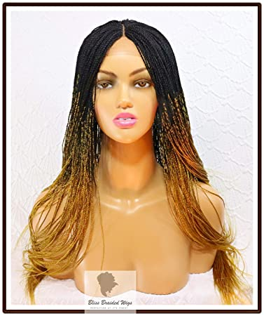 Amazon Com Micro Braided Lace Frontal Wig With Baby Hair For A