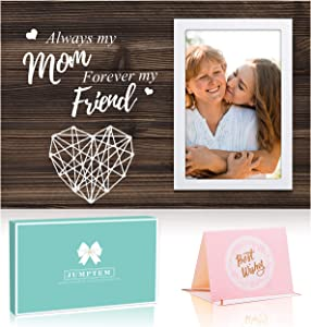 Mom Gifts Picture Frame, Always My Mom Forever My Friend Birthday Gifts for Mom Women - Mom Gifts from Daughters Sons - 4x6 Photo