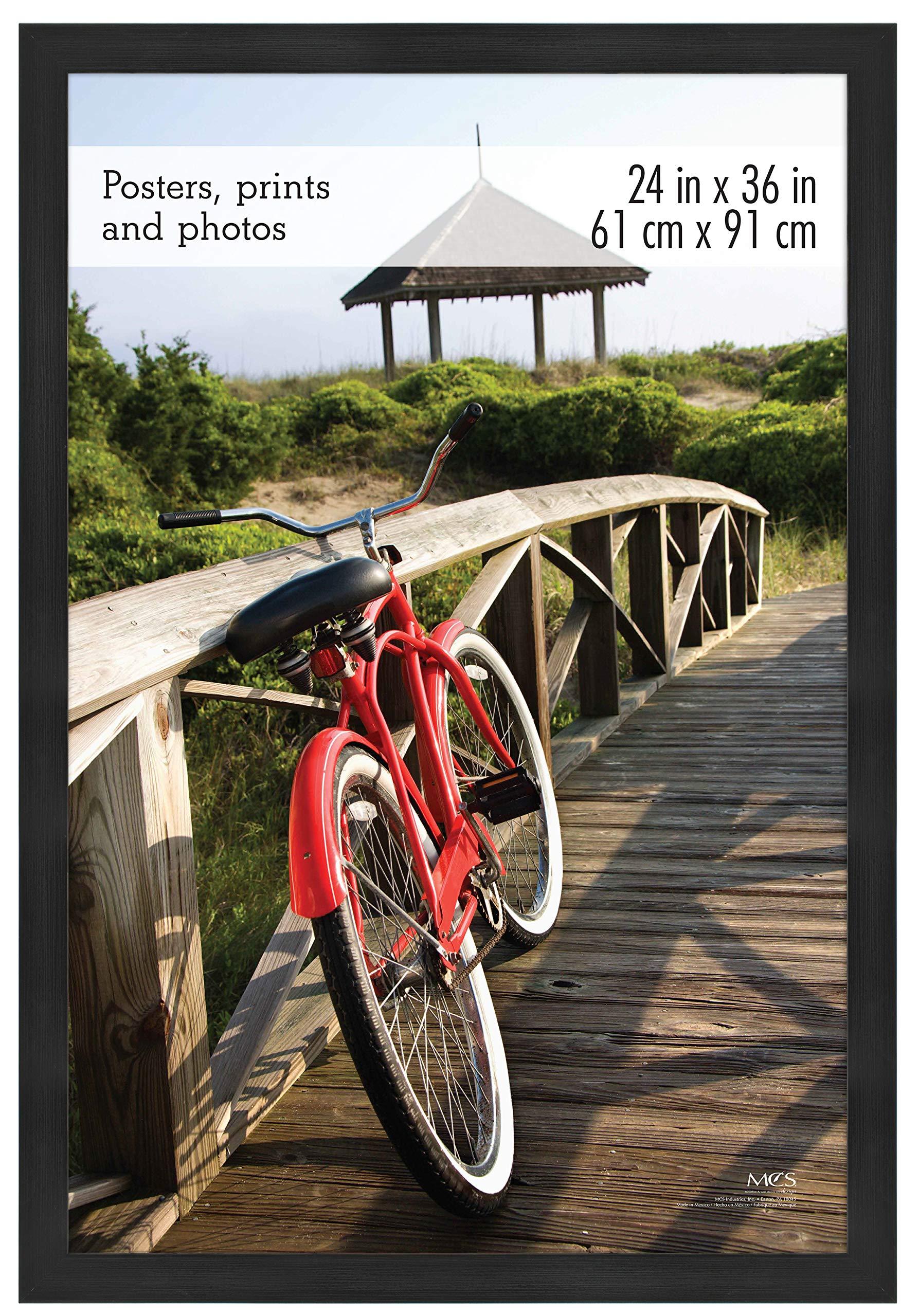 MCS 68859 Museum Poster Frame Onyx Woodgrain 24x36 Inch, 1 Frame by MCS Frames