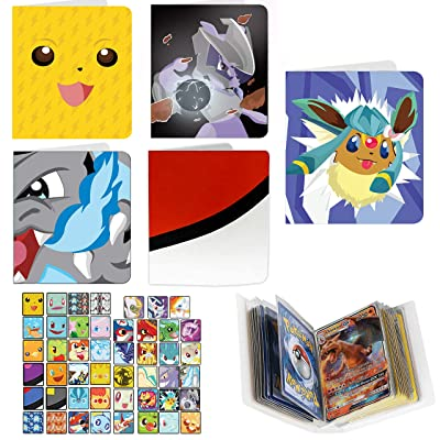 Totem World 5 Inspired Mini Binder Collectors Albums Compatible with Pokemon Cards - Top Load Pocket: Toys & Games