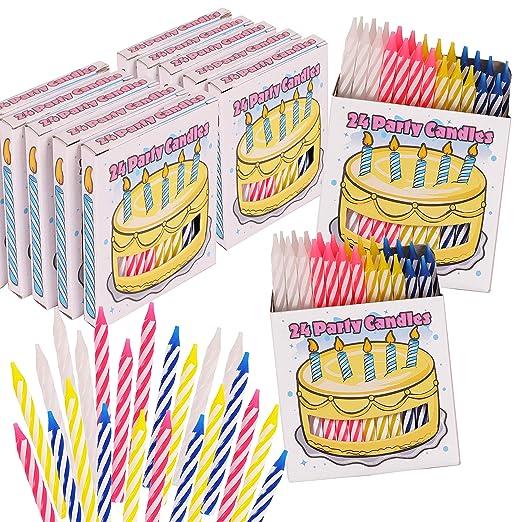 Kangaroos 288 Velas de Feliz cumpleaños; 12 Paquetes de una ...