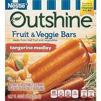 OUTSHINE Fruit & Veggie Bars, Tangerine Medley, ...