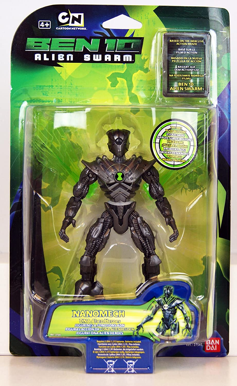 Amazon Com Ben 10 Alien Swarm Nanomech Dna Alien Heroes 6 Action Figur With Light Up Action Toys Games