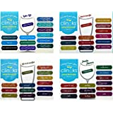 Clingks 48 Drink Markers - Humorous Beer and Wine Themes - Fun Alternative to Wine Charms
