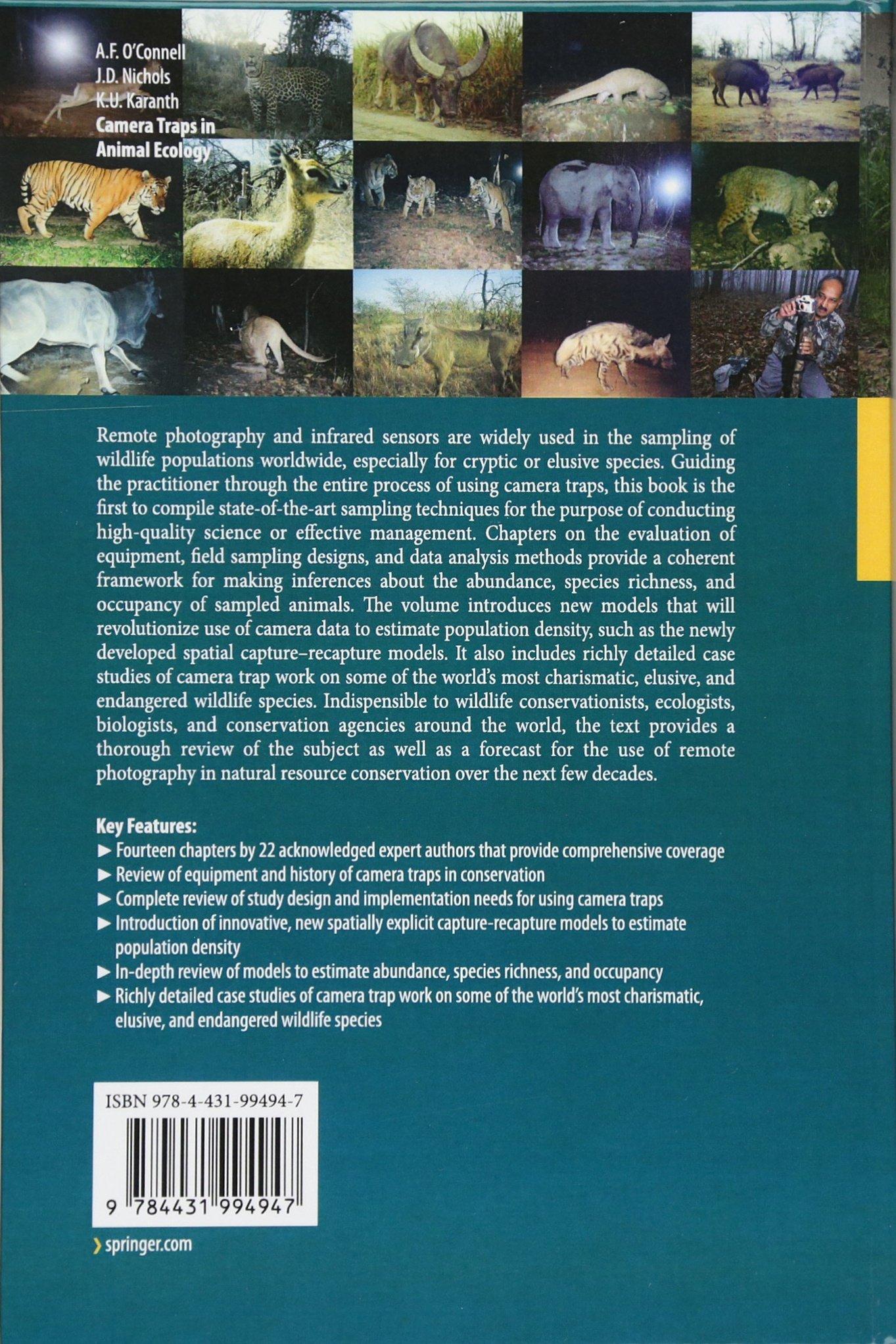 Camera Traps in Animal Ecology: Methods and Analyses: Amazon.co.uk ...
