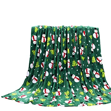 Christmas Fleece.Goodgram Ultra Plush Christmas Halloween Themed Fleece Throw Blankets Assorted Styles Green Snowman