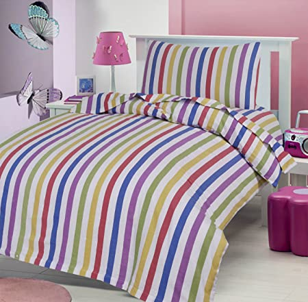 Rapport Candy 100/% Brushed Cotton Flannelette King Duvet Set CHEAPEST ON