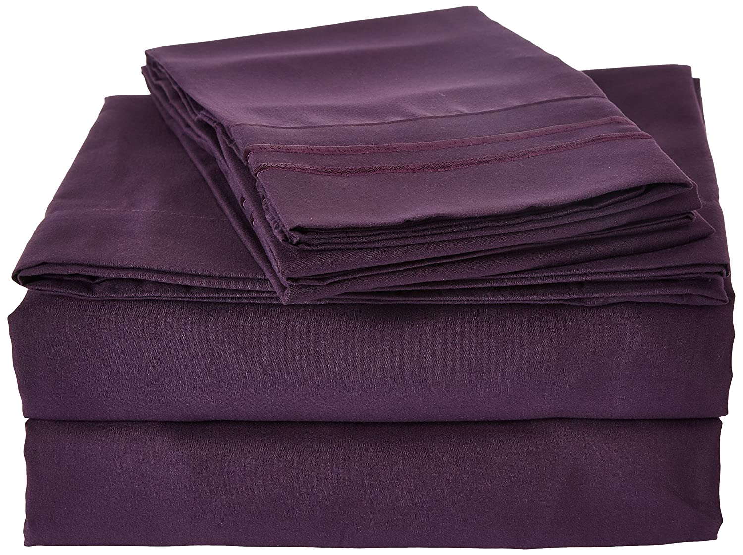 Clara Clark 4 Piece 1800 Series Premier Sheet Set, Queen, Purple