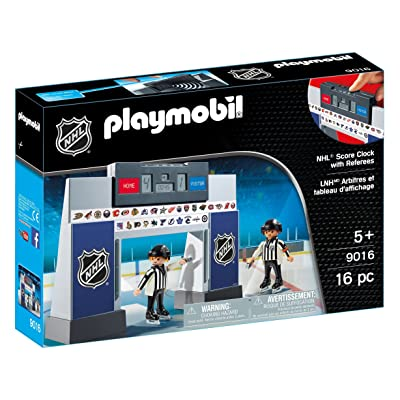 PLAYMOBIL NHL Score Clock with Referees: Toys & Games
