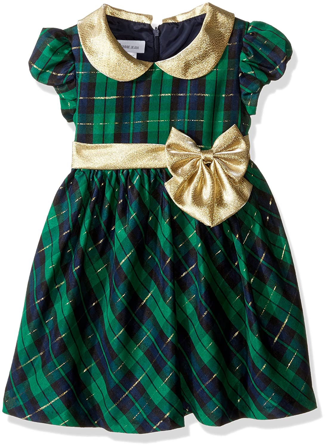 Kids 1950s Clothing & Costumes: Girls, Boys, Toddlers Bonnie Jean Girls Plaid Peter Pan Dress $29.99 AT vintagedancer.com