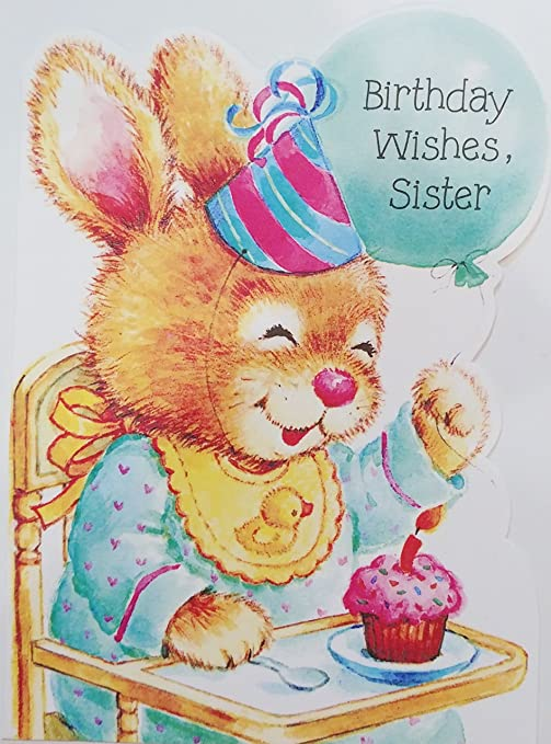 Amazon Birthday Wishes Sister For Kid Child Greeting Card