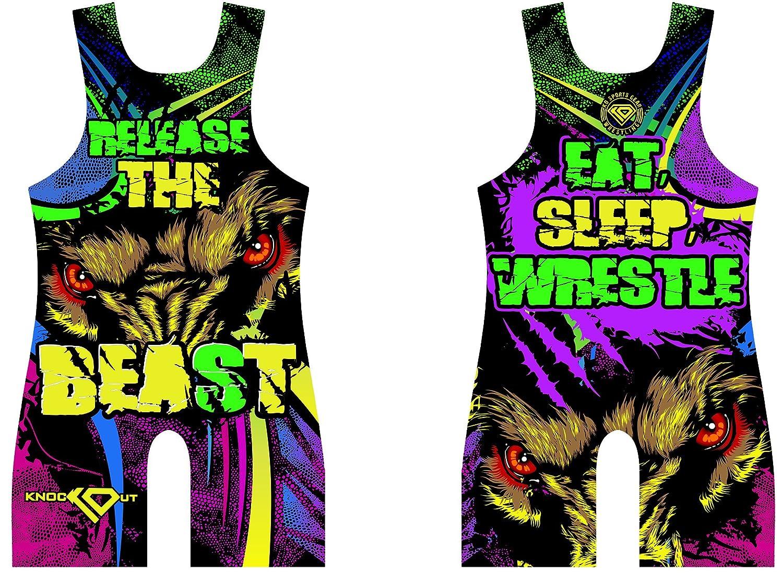 amazon com wrestling singlet by ko sports gear release the