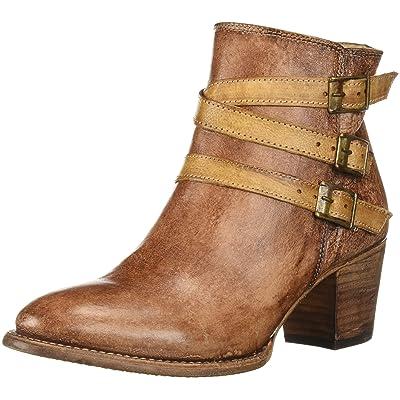 BED STU Women's Begin Boot, Black/Tan Teak Driftwood, 8 M US | Ankle & Bootie