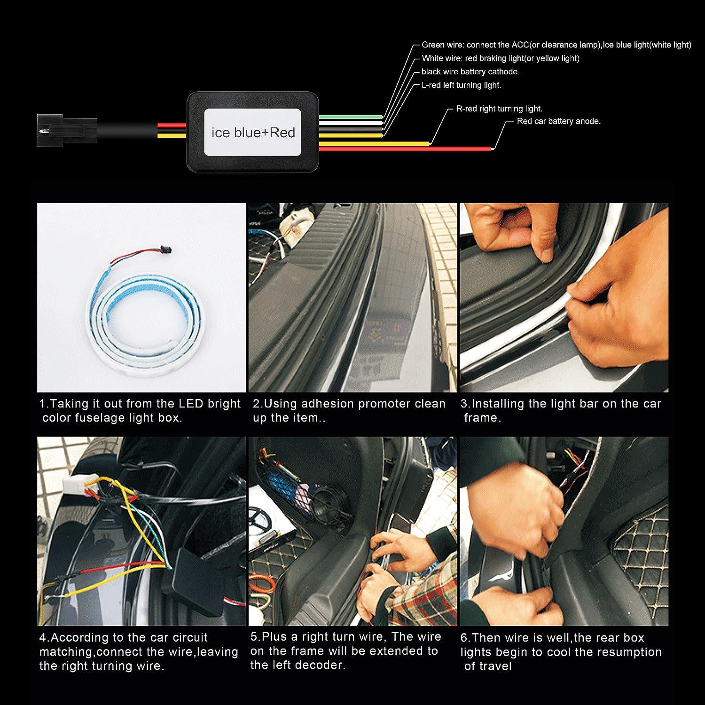 Amazon.com: DITRIO Flexible Led Strip Tailgate Light Truck Strip ...