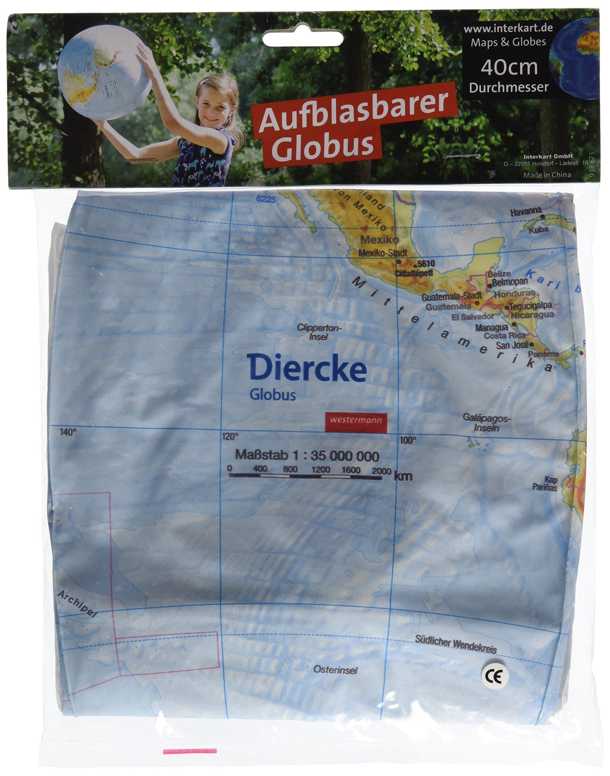 Topographischer Globus aufblasbar: aufblasbar, 40cm, deutsch Landkarte – Globe, 30. Mai 2015 Interkart Verlag B00EPFHWT8 012915 Pole