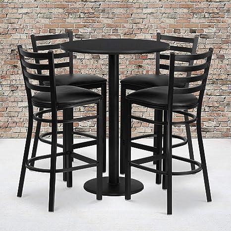 Amazon.com: Juego de mesa laminada redonda de 30 pulgadas ...