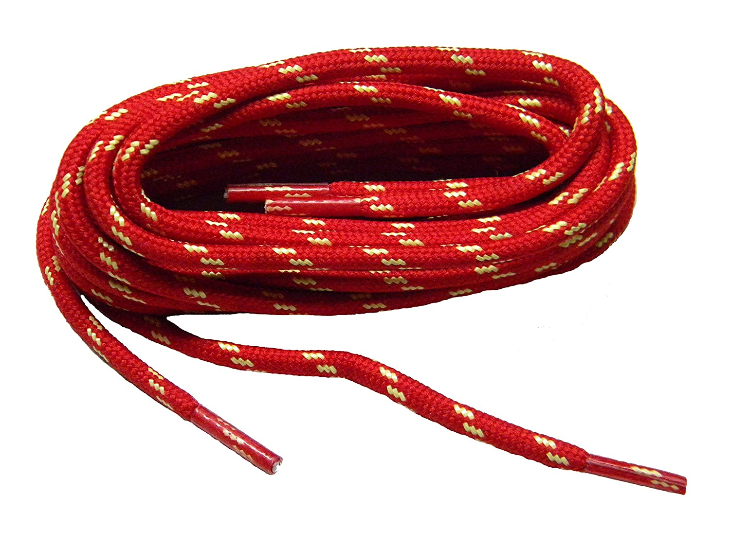 GREATLACES Red w/Natural Yellow Kevlar(R) proTOUGH(TM) Boot Shoelaces -(2 Pair Pack)