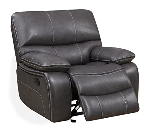 Global Furniture Glider Recliner, Grey Black