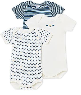 Petit Bateau Baby-Jungen Formender Body 3er Pack