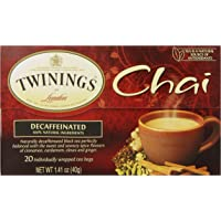 6-Pack Twinings Bagged Decaf Chai Tea (20 Count)