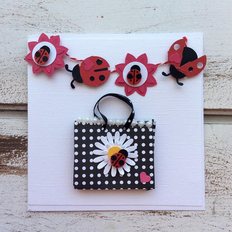 Daisies /& Lady Bugs Black /& White Card Set