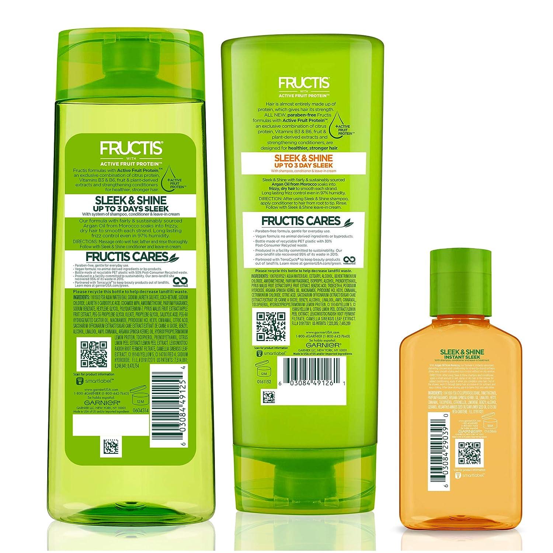 cheap for discount 3a4bb 4186d Amazon.com: Garnier Fructis Sleek & Shine Moroccan Sleek Oil Treatment,  Frizzy, Dry Hair, 3.75 fl. oz.: Beauty