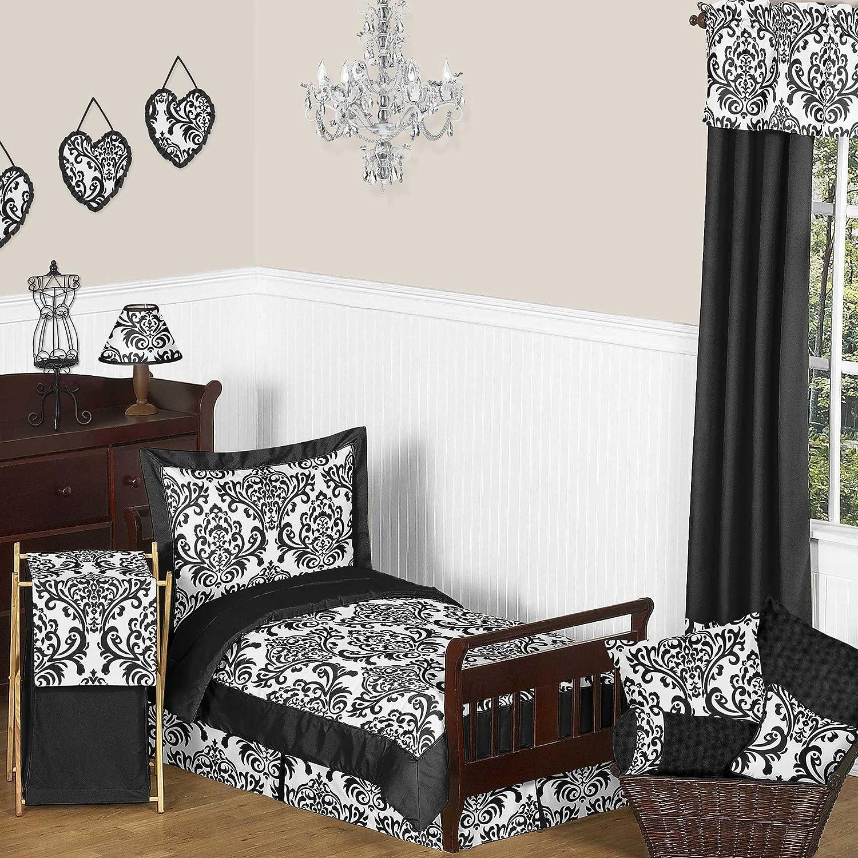 Amazoncom Sweet Jojo Designs 5 Piece Black And White Isabella