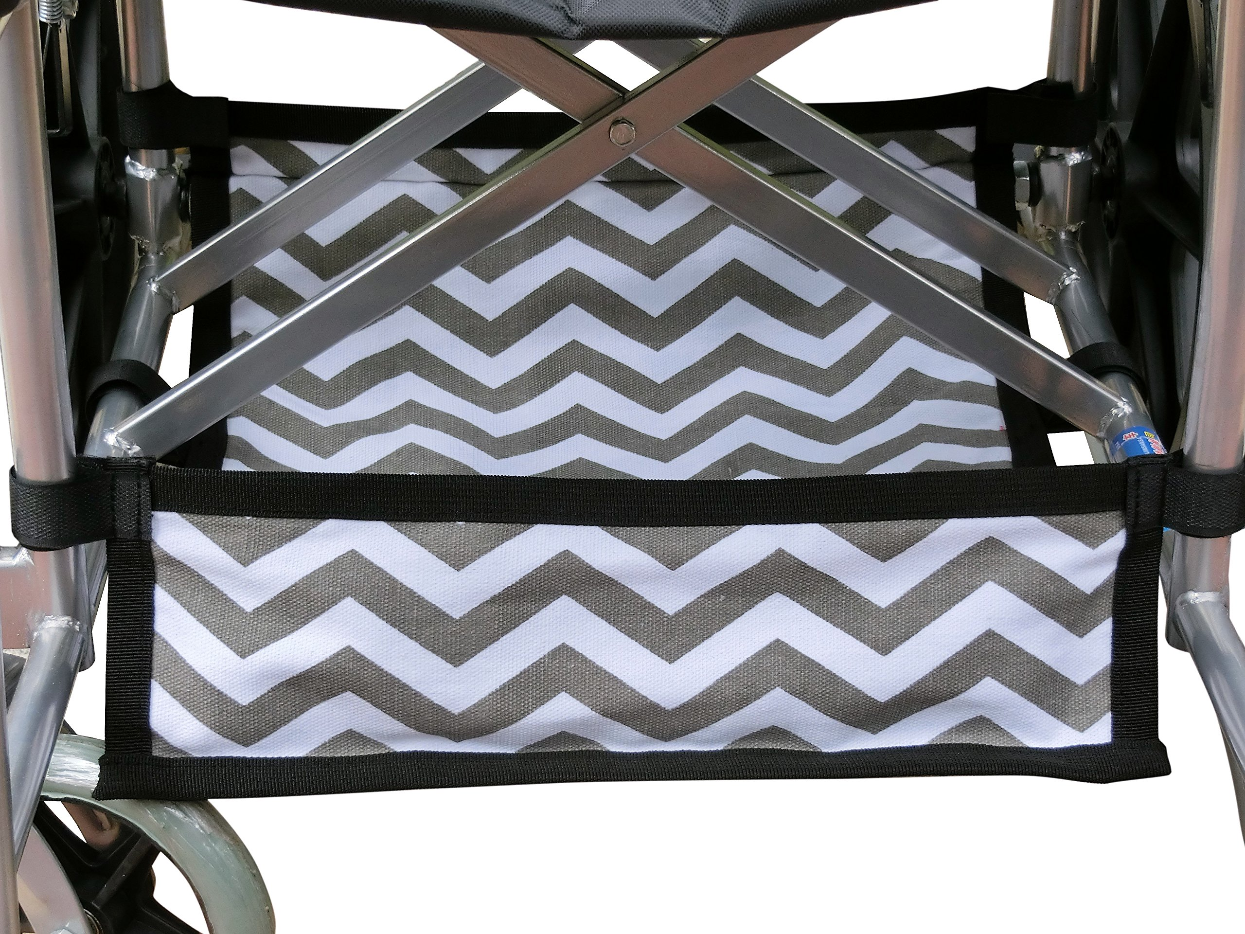Foldable Wheelchair Under Seat Storage Bag, Wheelchair Underneath Carrier, Wheelchair Under Seat Basket, Wheelchair Bag, Wheelchair Accessories, Wheelchair Underneath Bag, Chevron Cotton Canvas