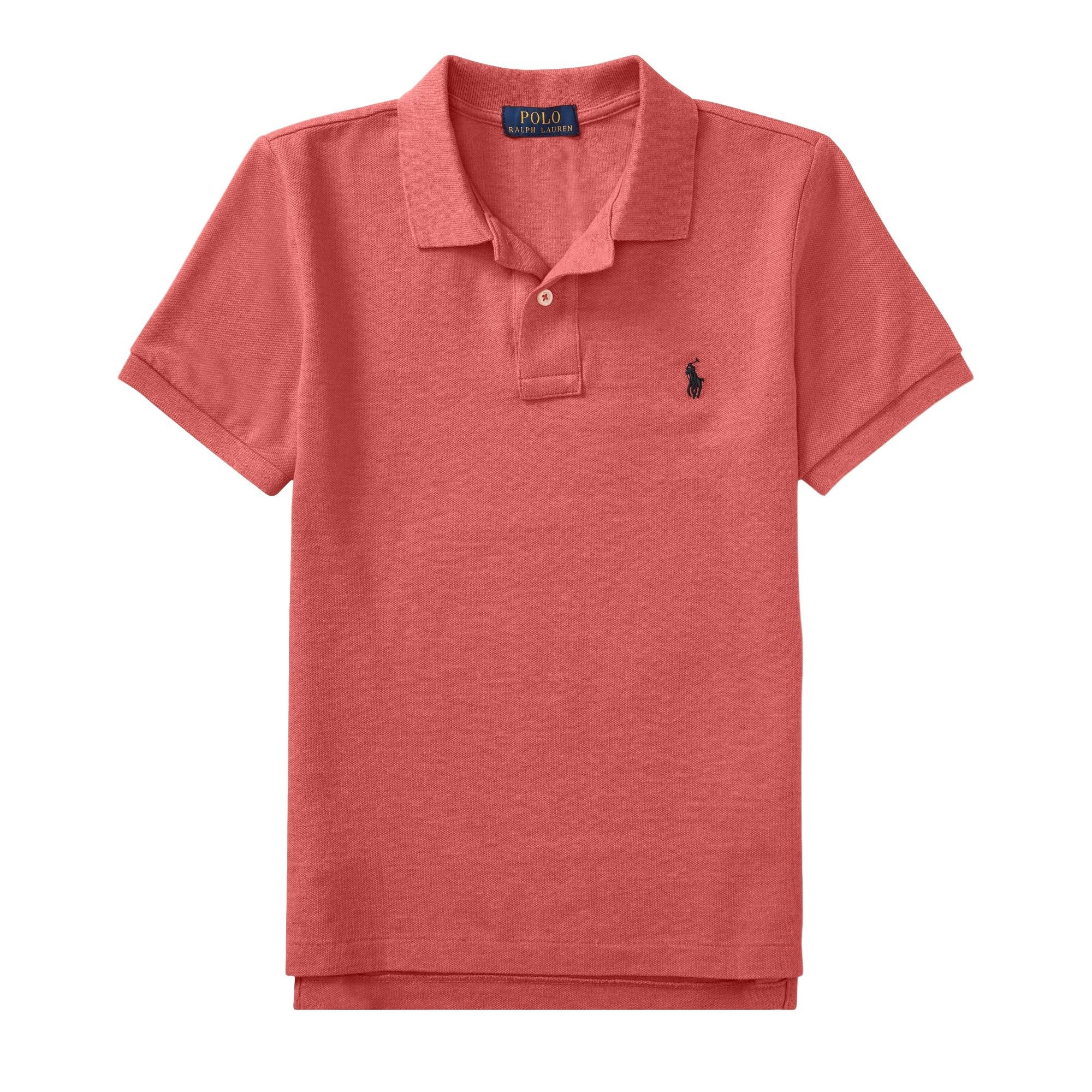 Ralph Lauren Polo Boys' Classic Cotton Mesh Polo Shirt (SalmonHth, S)