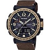 Casio PRO Trek Quartz Watch with Leather...