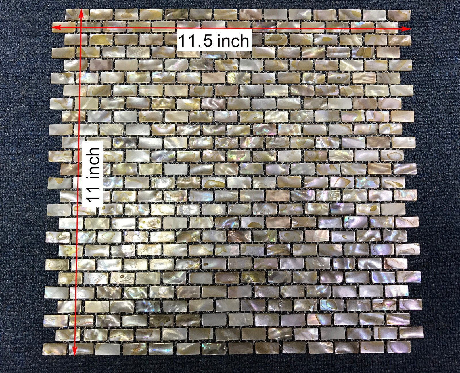 CHOIS Wholesale Mother of Pearl Shell Backsplash I-Shaped Rectangle Tiles Wall Tile B03S Lot 12PCS