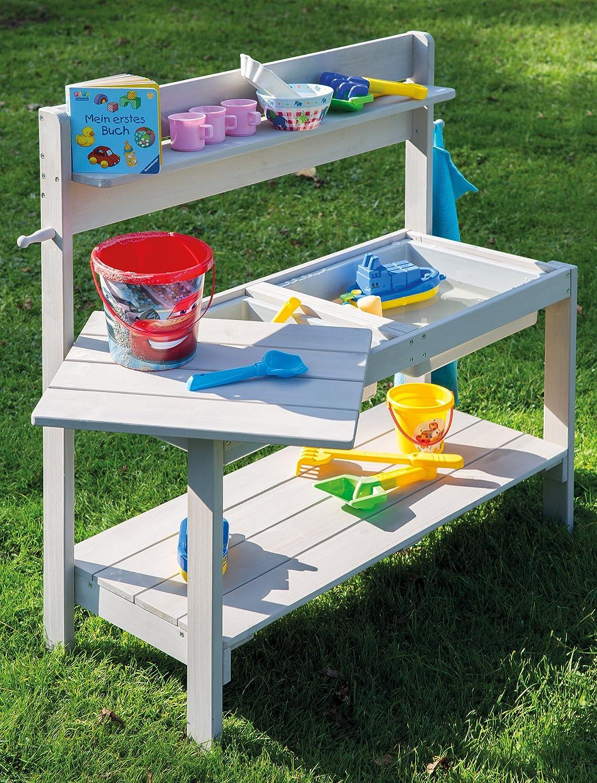roba Kinder Outdoor Gartenküche 'Fun\' aus Holz, Matschküche mit ...