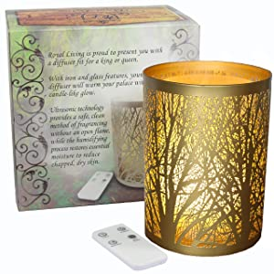 Royal Living Enchanted Forest Essential Oil Diffuser, Ultrasonic Aromatherapy Humidifier (Silver) essential oil diffuser - 91dubHleEvL - Essential oil diffuser review – Best choices and how they work