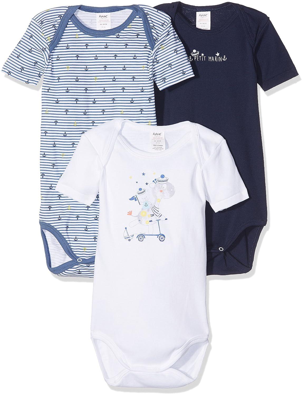 Alphabet 3 Us MC, Body para Bebés, Pack con 3 Unidades 6J60437-AM