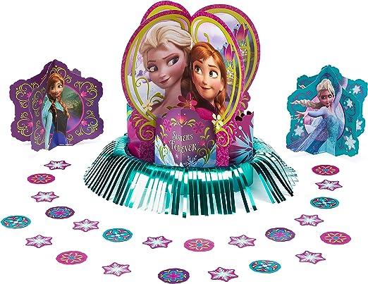Frozen Disney Movie Princess Birthday Party Centerpiece Table Decorating Kit