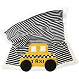 Estella Hand Knitted Organic Cotton Baby Security Blanket, Taxi