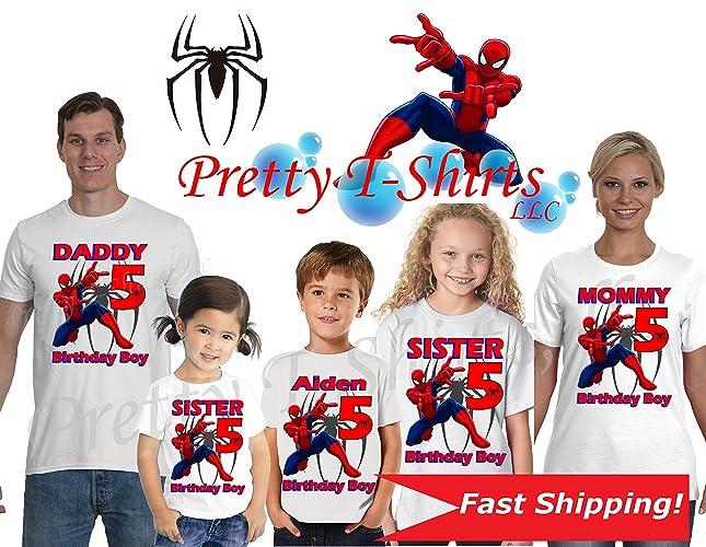 0dcb9ece8 Spider Man Birthday Shirt, We ADD any name & age on it! Family Birthday  Shirts, Spider-Man Birthday Shirt, Spiderman Party Favor, Custom Spiderman  Shirt, ...