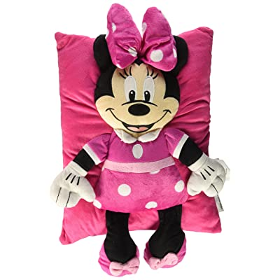 Disney Minnie Mouse Bow Plush Character Pillow: Home & Kitchen