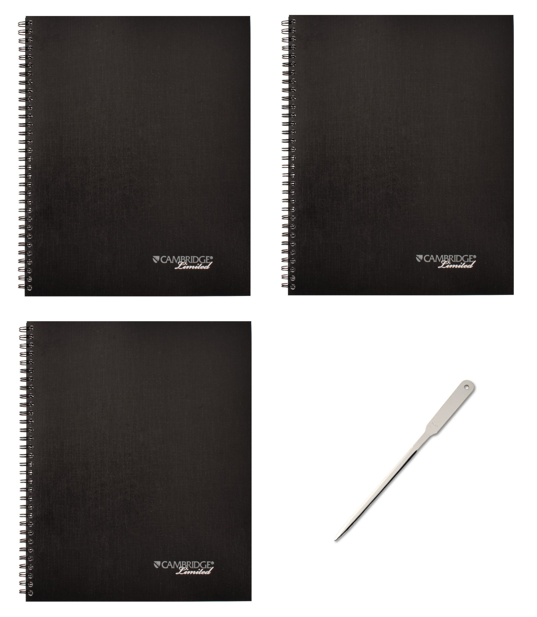 MEA06132 - Side-Bound Guided Business Notebook, 11 x 8 1/4, 80 Sheets, Pack of 3 (06132)