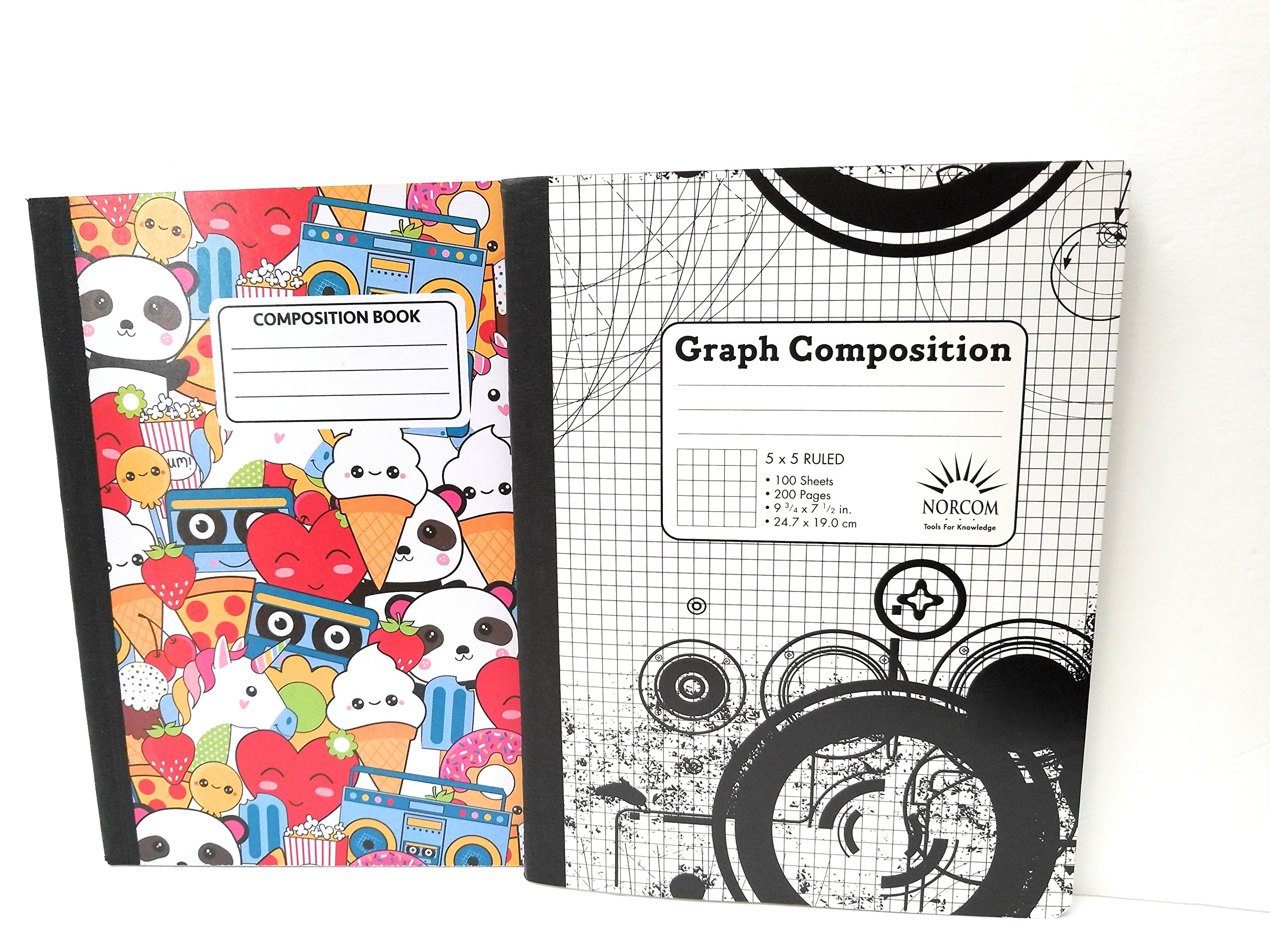 Whimsical Adventure Composition Notebook & 5 x 5 Graph Notebook - Pack of 2