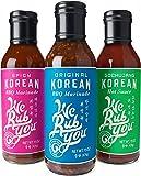 WE RUB YOU Korean BBQ Marinade & Sauce Variety Pack, Original, Spicy, Gochujang, 3 CT