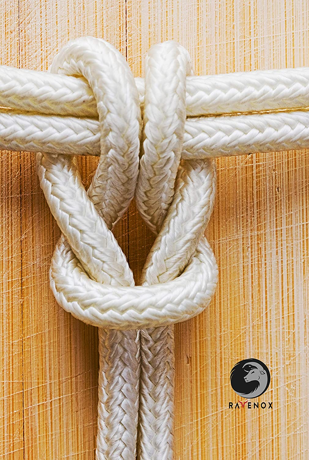Strong Braided Nylon Cord Yachts 1//2 x 10 FT Made in The USA White Dock Lines Mooring Lines /& General Purpose Ravenox by FMS Double Braid Nylon Rope - Anchor Rope