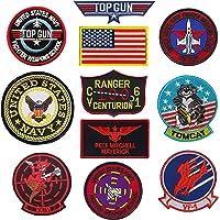 TOP Gun Patch United Sates Navy Fighter Weapons School, American Flag, CV-61 USS Ranger 100 Centurion, Tom Cat, Pete…