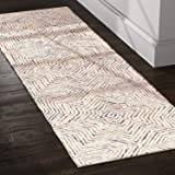 "Rivet Geometric Wool Runner Rug, 2' 6"" x"