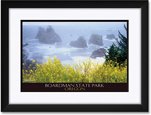 Amazon Com Boardman State Park Professionally Framed Matted Art Print From Original Photo By Steve Terrill Framed Art Size 18 X 24 Posters Prints