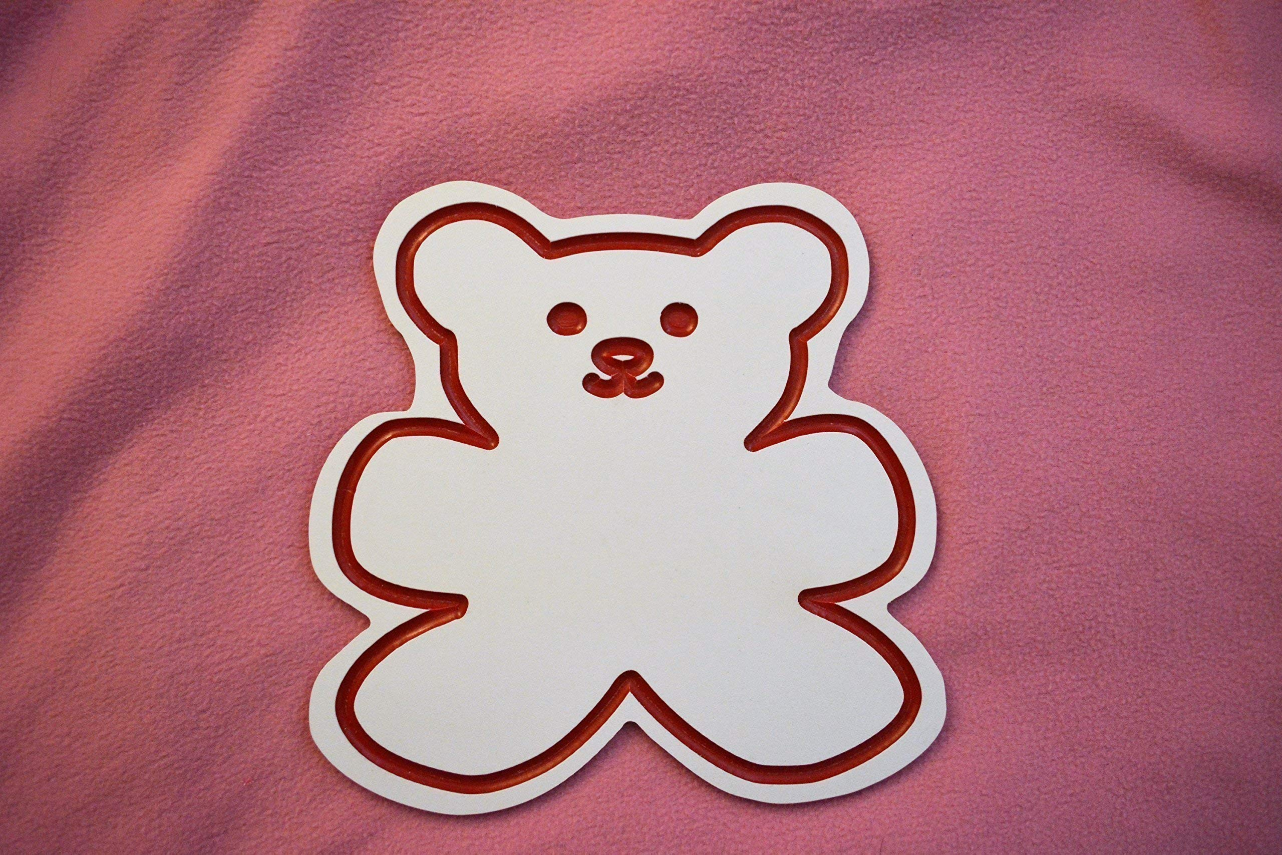 Teddy Bear Shaped White Plastic HDPE Cutting Board 12'' x 12'' Dishwasher Safe Unique Kitchen Gifts for Animal Lovers FREE FAST SHIPPING!