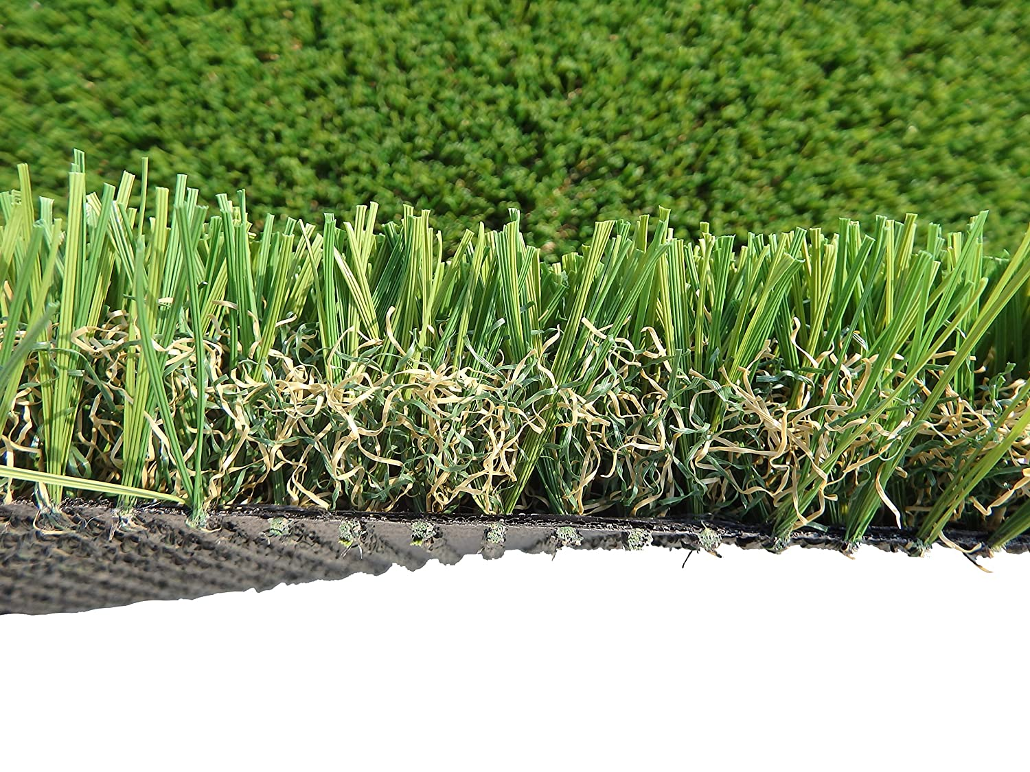 PZG Commerical Artificial Grass Patch w Drainage Holes & Rubber Backing   Extra-Heavy & Durable Turf   Lead-Free Fake Grass for Dogs or Outdoor Decor   Total Wt. 103 oz & Face Wt. 75 oz   5' x 3'