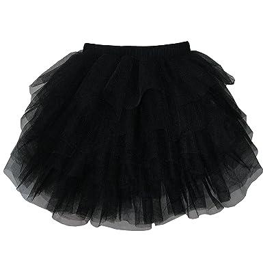 Sunny Fashion Chicas Falda Negro Clásico Tul Varias Capas Bailando ...